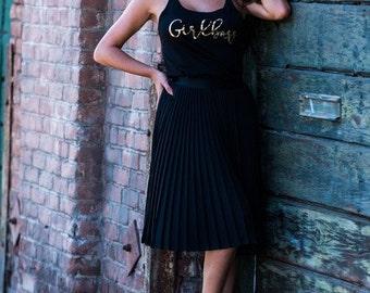 Girlboss Racerbank Tank Top Gold // Gift for a Boss // Gift for her // best friend gift // motivation shirt / 6001