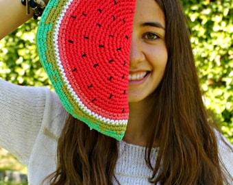 Watermelon Clutch // Original watermelon clutch of crochet