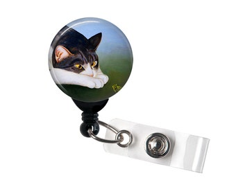Kitty and Toad Playmate, Badge reel, ID Badge holder, retractable badge reel