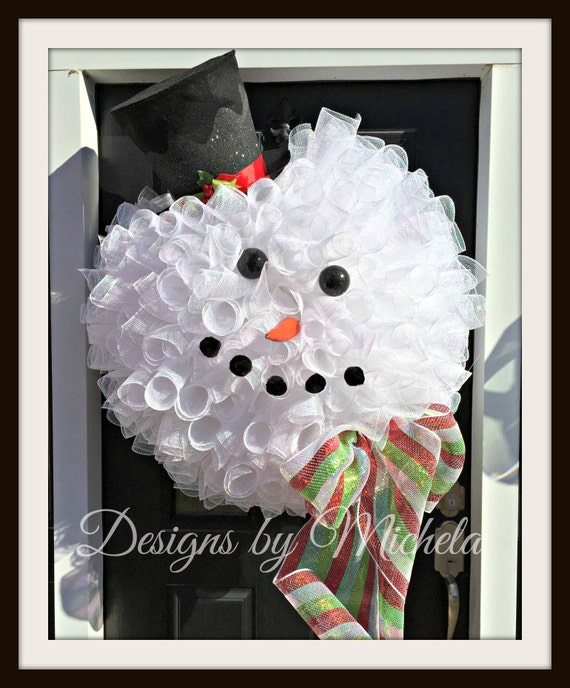 Frosty the Snowman Christmas Wreath