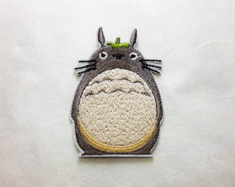 Totoro Iron on Patch(M)- Totoro Cartoon Applique Embroidered Iron on Patch - Size 5.0x7.5 cm