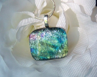 Dichroic Pendant, Fused Glass Jewelry, Glass Jewelry, Dichroic Necklace, Glass Pendant, Glass Necklace, Statement Pendant, DP062316065