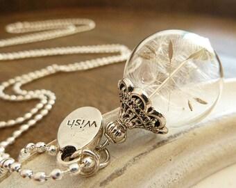 Dandelion Necklace Silber