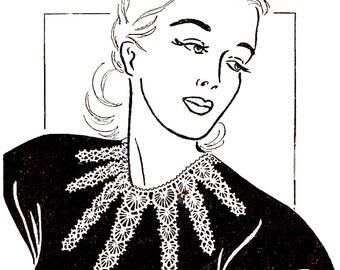 PDF Starfish Crochet Collar Pattern Instant Download
