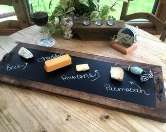 """Chalkboard Serving Tray 30"""" x 11"""""""