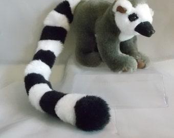 Lemur Plush Small of the Wild Ringtail Stuffed Animal Vintage 1993 Wildlife Artists