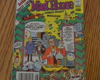 The Archie Digest Library Mad House Comics Digest Magazine No. 8 1982-1983