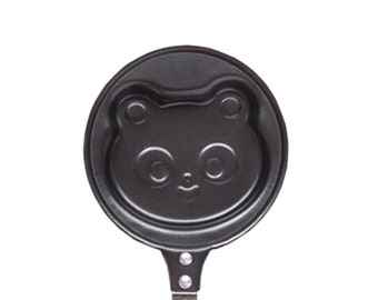 Panda Pancake Pan / Mini Kawaii Bear Shaped Cooking Pan / Kitchen Tool / Pastry Pan / Egg Shape Frying Pan / Cute Kids Breakfast Cooking