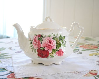 Vintage Arthur Wood and Son Rose Teapot