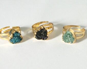 Druzy Ring Adjustable