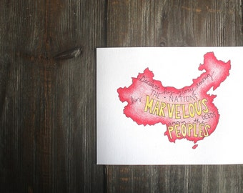 China Hand Lettering Art