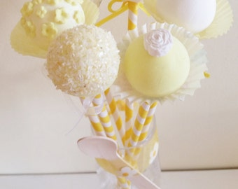 Lemon Popsicles, fake cake pops