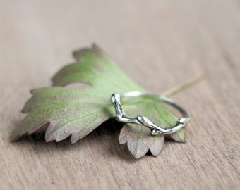 Branch ring - Silver ring - Twig ring -  Nature Ring - Nature Jewelry - Little ring