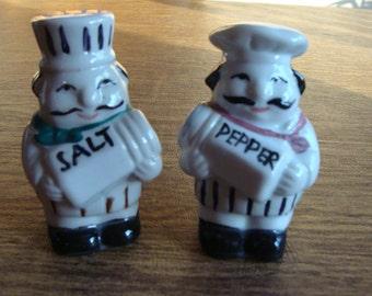 Vintage Italian Chef salt & pepper shakers