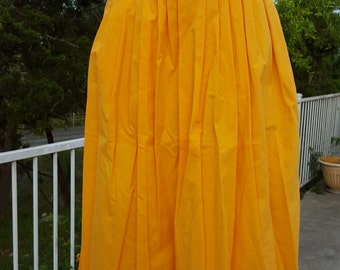 Yellow Skirt by Emily St. , Pleated Skirt