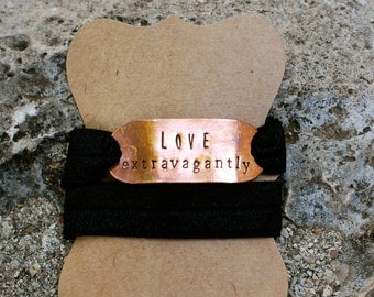 Hand-stamped {Love Extravagantly} Wrap Bracelet