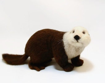 Sea Otter MADE TO ORDER! Animal felting Cute animal Felting Otter Toy Otter Otter trend Soft sculpture Kaplan Natural materials Animal otter