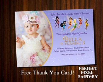 Tinkerbell Invitation, Tinkerbell Birthday invitation, tinkerbell party invitation, printable invitation,Disney's Tinkerbell, Tinkerbell