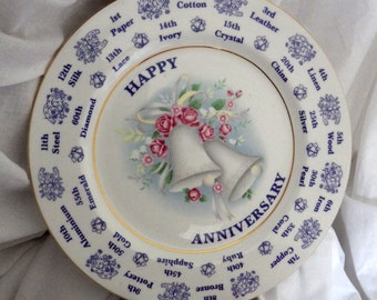 Happy Anniversary Plate by Harleigh China