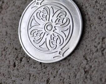 Sterling Silver Coalhole Pendant