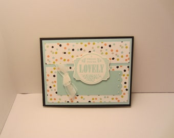 I Think You're Lovely Confetti Card