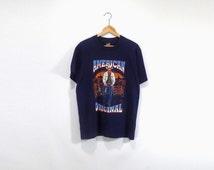 AMERICAN ORIGINAL SHIRT // 90s // Large // Western Shirt // Western T-Shirt // Merica Shirt // Merica T-Shirt // Cowboys T-Shirt // Cowboy
