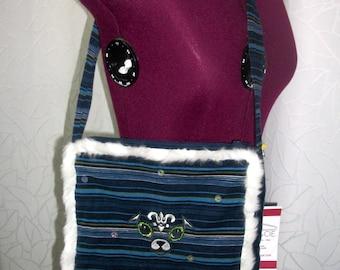 Blue corduroy bag