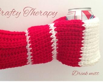 Drink Mitt, Crochet drink mitten, Beer mitten, Beer glove, Drink mitten, Drink glove, Beverage mitt, Beverage mitten, Beverage glove