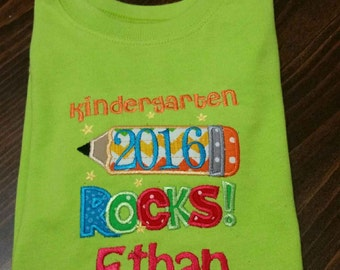 Kindergarten Rocks shirt
