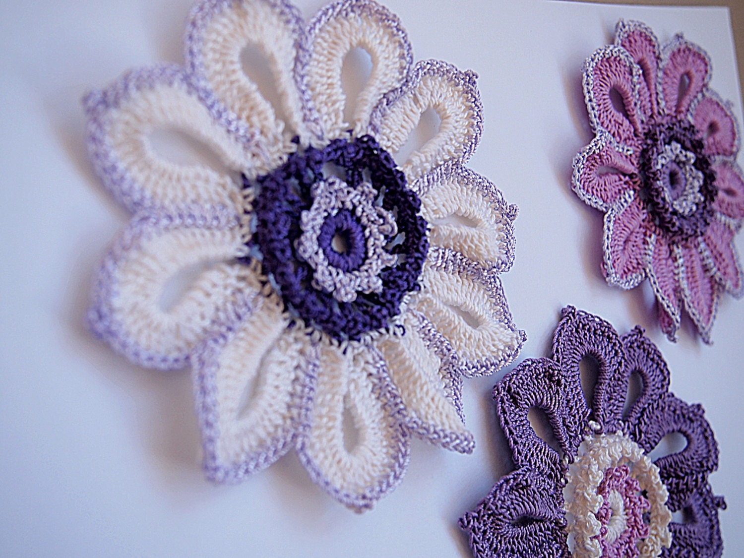 Crochet flower patterndetailed tutorialcrochet embelishment crochet flower patterndetailed tutorialcrochet embelishmentcrochet broochcrochet flower pincrochet decor patternirish crochet pattern dt1010fo