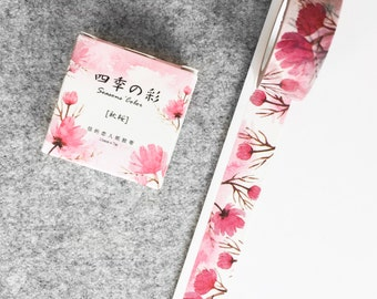 Cute washi tape - pink flowers | Cute Stationery