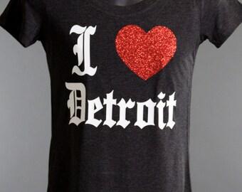 I Love DETROIT Super soft Tri-blend T!