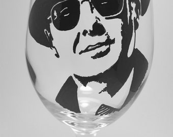 Blacklist, James Spader, Hand Painted Glass, Painted Wine Glass