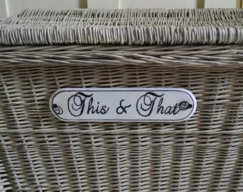 Wicker Trunk ,  Storage Basket with Lid
