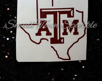 Texas A&M Yeti Decal