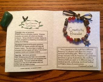 Creativity Gemstone Bracelet, Healing, Energy