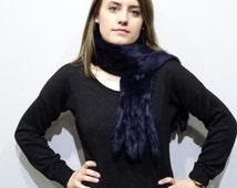 Real Rabbit Long Fur Scarf, Winter fur scarf, Long fur scarf,real fur