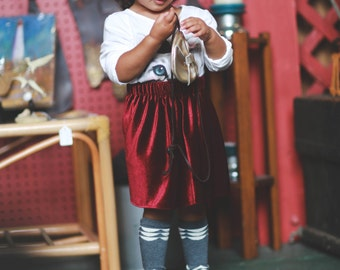 Red velvet skirt for babies, christmas skirt outfit, girl red skirt for fall outfit, toddler skirt, baby girl clothes, baby shower gift
