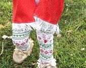 christmas leggings set, christmas headband, holiday accessories, baby girl christmas headband, toddler girl holiday, girl holiday set