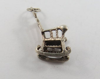 Rocking Chair Sterling Silver Charm or Pendant.