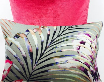 Harlequin Paradise Loganberry/Raspberry/Emerald Cushion Covers - pillow throws  Many Sizes  Available