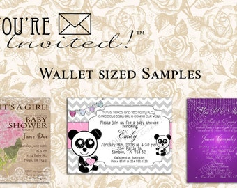 Invitation Samples - Get a sample of Economic photo paper or 100 lb Cardstock before you order