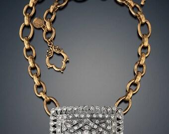 Vintage Buckle Necklace
