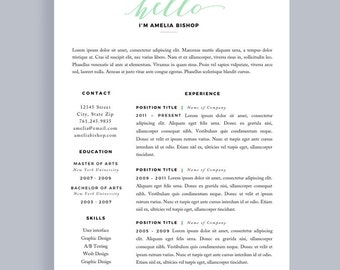 simple resume simple cv template minimal resume resume 1 page resume template - Simple Professional Resume
