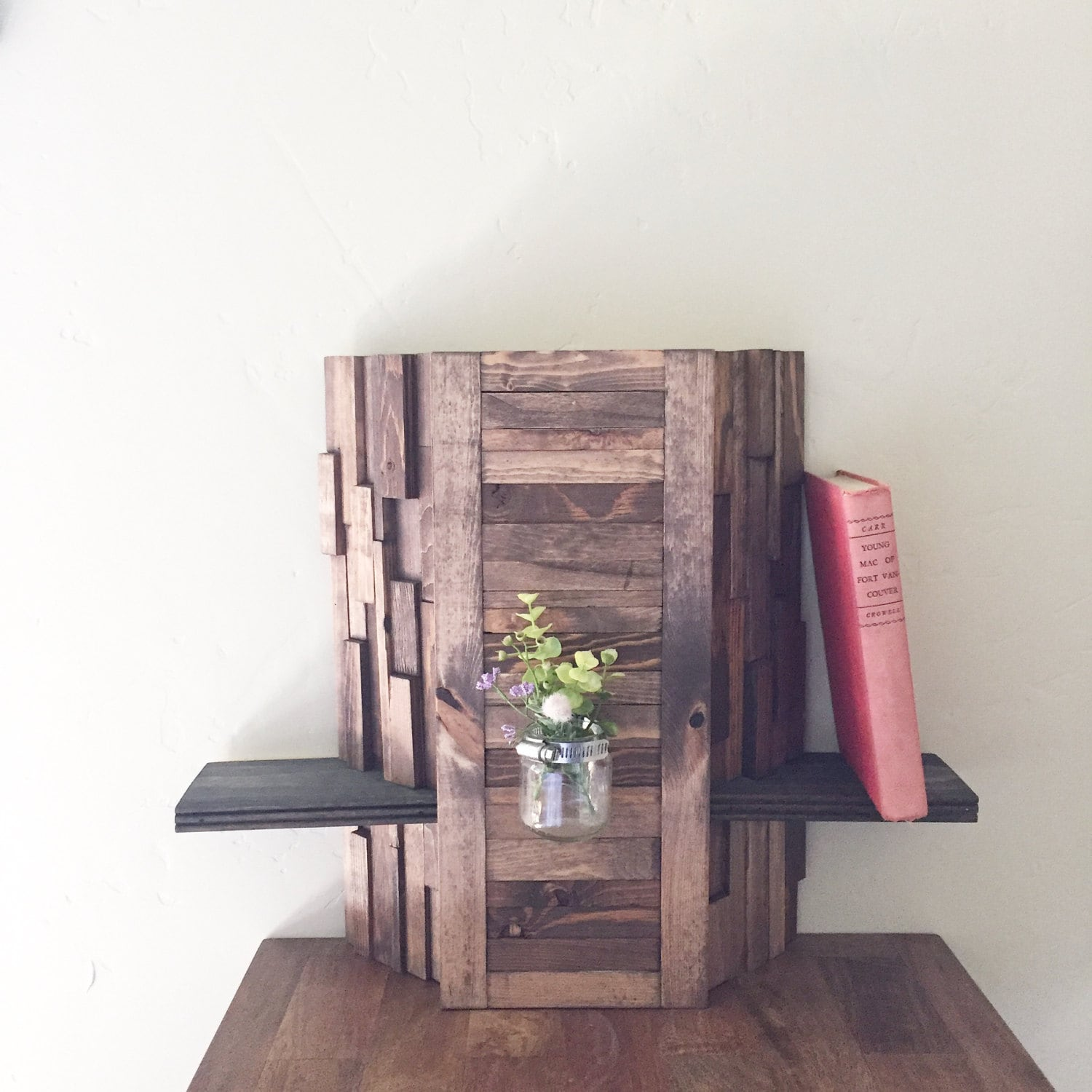 reclaimed wood wall art wood shelf display reclaimed wood wall. Black Bedroom Furniture Sets. Home Design Ideas