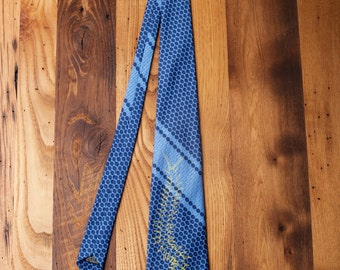 One of a Kind Polka Dot Vintage Tie Screen Printed Centipede Retro Necktie