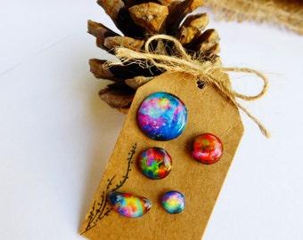 Galaxy stud earrings / Galaxy studs / Nebula earrings / Space earrings / Space studs / Space jewelry / Galaxy jewelry / Galaxy gift idea