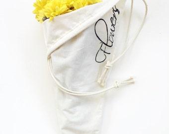 Shoulder Strap Bouquet Bag - 'Flowers'