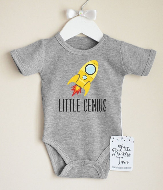 Geek Baby Clothes Little Genius Baby Shirt by