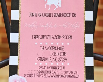 Southern Horses Bridal Shower Invitation